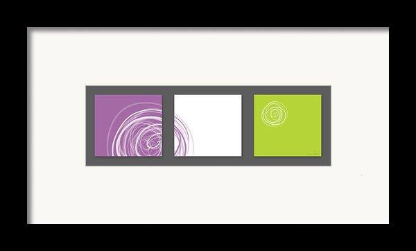Purple Twirl Framed Print By Nomi Elboim
