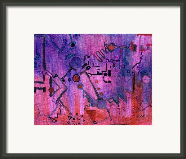 Puzzle In Purple Framed Print By Regina Valluzzi