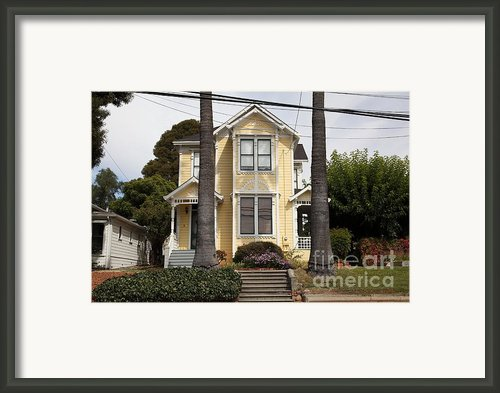 Quaint House Architecture - Benicia California - 5d18591 Framed Print By Wingsdomain Art And Photography