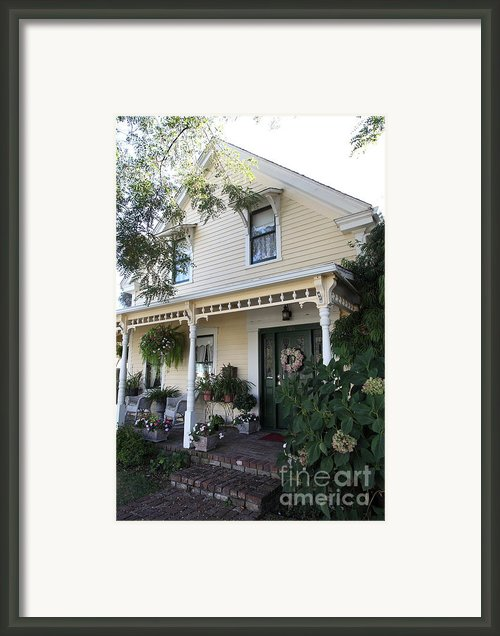Quaint House Architecture - Benicia California - 5d18794 Framed Print By Wingsdomain Art And Photography