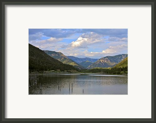Quake Lake Framed Print By Karon Melillo Devega