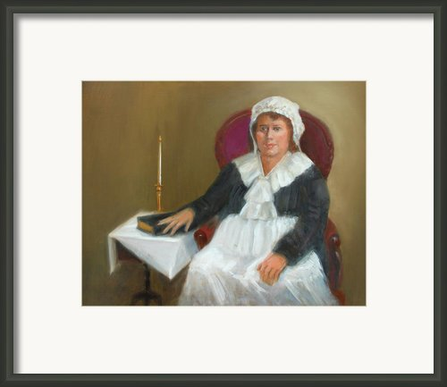 Quaker Lady Framed Print By Marjorie Harris