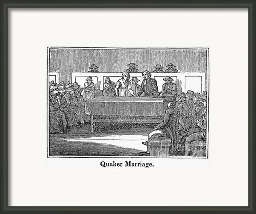 Quaker Marriage, 1842 Framed Print By Granger