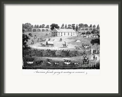 Quaker Meeting, 1811 Framed Print By Granger