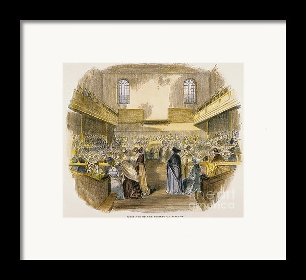 Quaker Meeting, 1843 Framed Print By Granger
