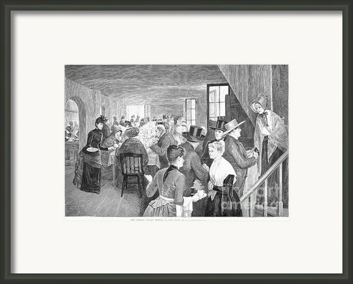 Quaker Meeting, 1888 Framed Print By Granger