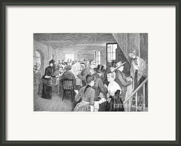 Quaker Meeting, 1888 Framed Print By Granger