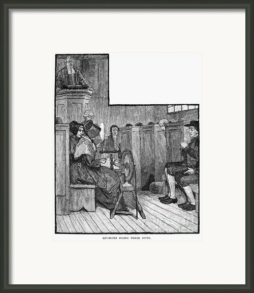 Quaker Meeting Framed Print By Granger