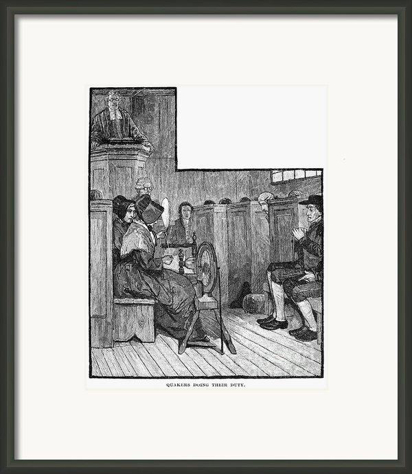 Quaker Meeting Framed Print By Granger