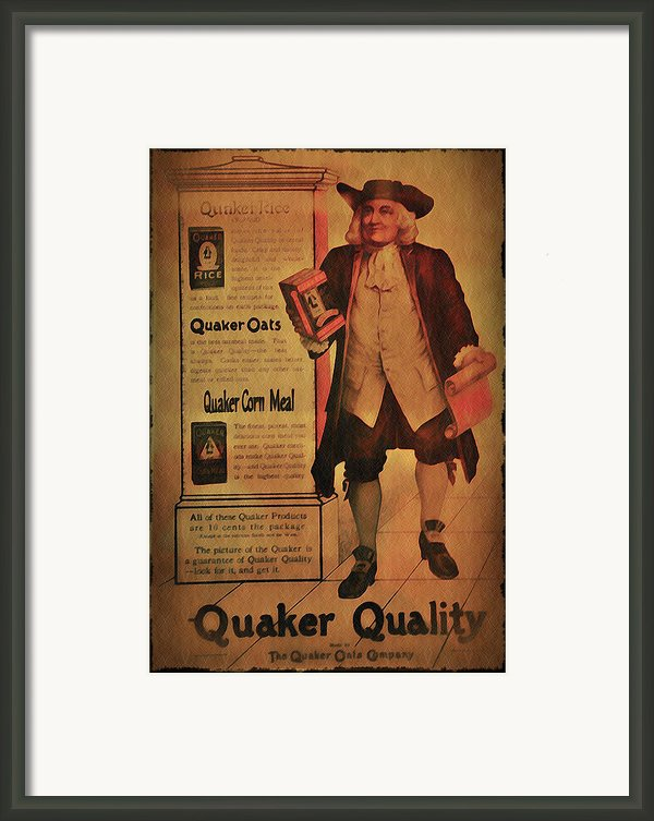 Quaker Quality Framed Print By Bill Cannon
