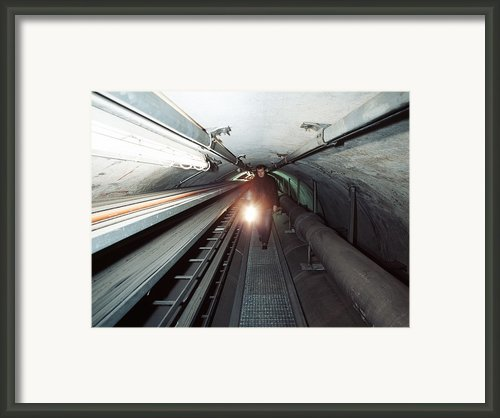 Quantum Entanglement Tunnel Framed Print By Volker Steger
