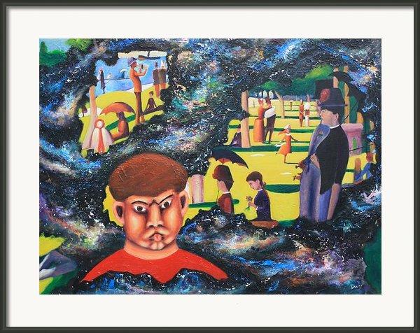 Quantum Quasimodo Framed Print By Art Enrico