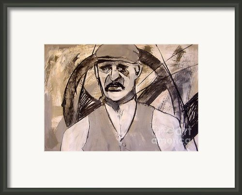 Quarry Man Framed Print By Joanne Claxton
