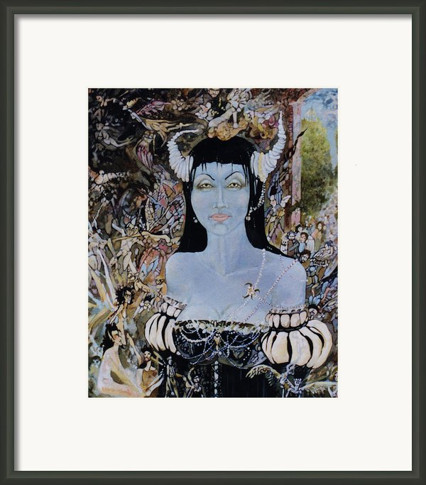 Queen Mab 1 Framed Print By Jackie Rock