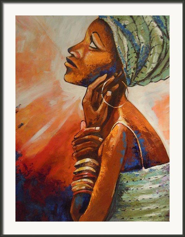 Queen Framed Print By Michael Echekoba