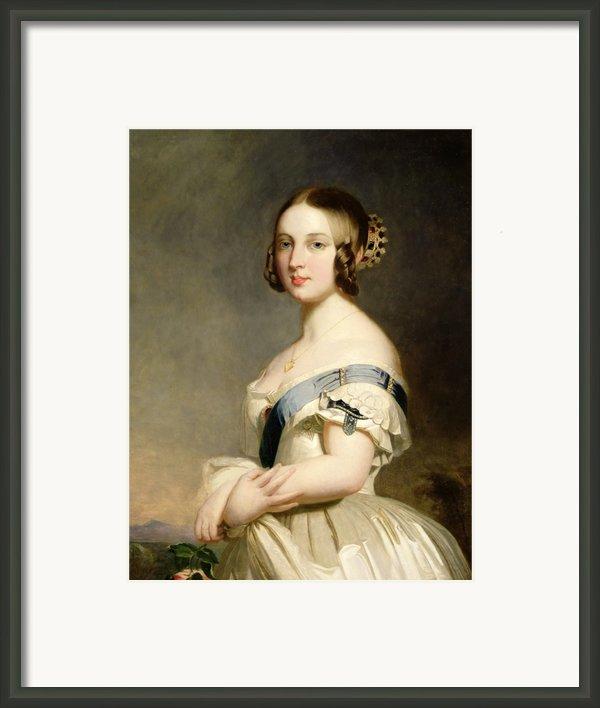 Queen Victoria Framed Print By Franz Xavier Winterhalter