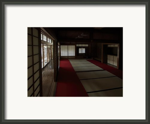 Quietude Of Zen Meditation Room - Kyoto Japan Framed Print By Daniel Hagerman