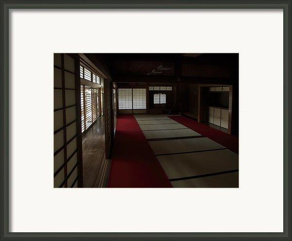Quietude Of Zen Meditation Room - Kyoto Japan Framed Print By Daniel Hagerman