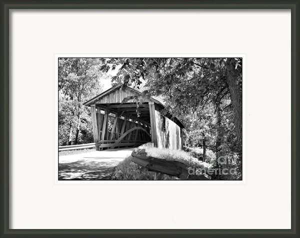 Quinlan Bridge Framed Print By Deborah Benoit