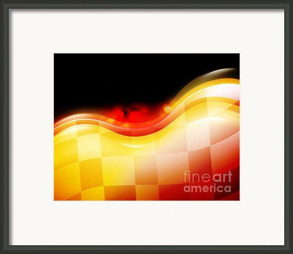 Race Car Speed Flames Background Framed Print By Angela Waye