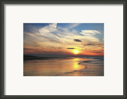 Race Point Beach Sunset  Framed Print By Roupen  Baker