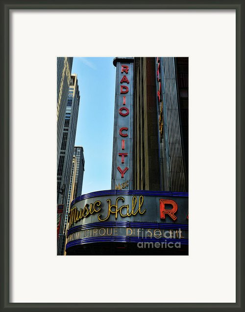 Radio City Music Hall Framed Print By Paul Ward
