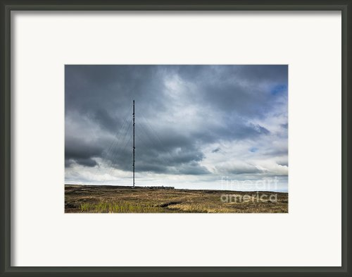Radio Tower In Field Framed Print By Jon Boyes