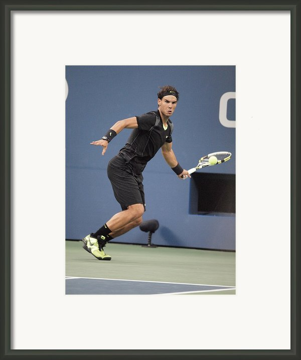Rafael Nadal In Attendance For Us Open Framed Print By Everett
