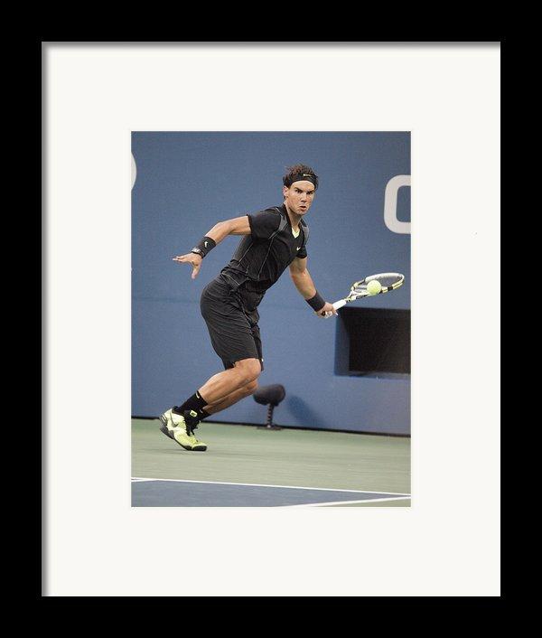Rafael Nadal In Attendance For Us Open Framed Print By Everett
