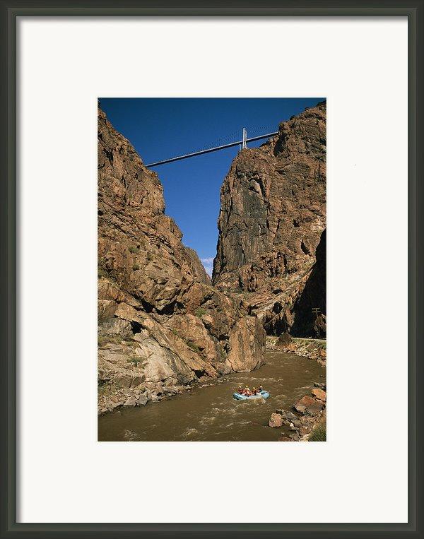 Rafting On The Arkansas River Framed Print By Richard Nowitz