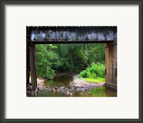 Railroad Landscape Framed Print By Michael L Kimble