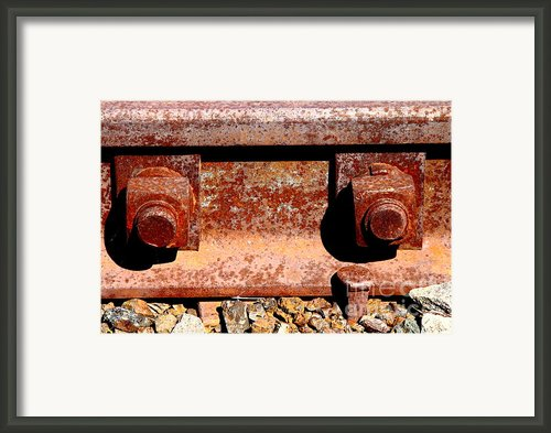 Railroad Track Nuts Bolts Spikes . 7d12683 Framed Print By Wingsdomain Art And Photography