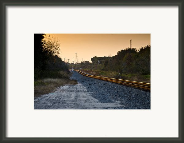 Railway Into Town Framed Print By Carolyn Marshall