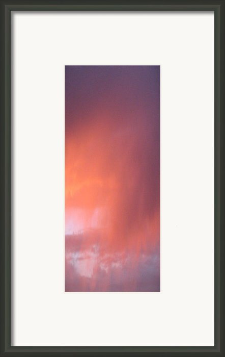 Rain At Sunset Framed Print By Alissa Beth Fox