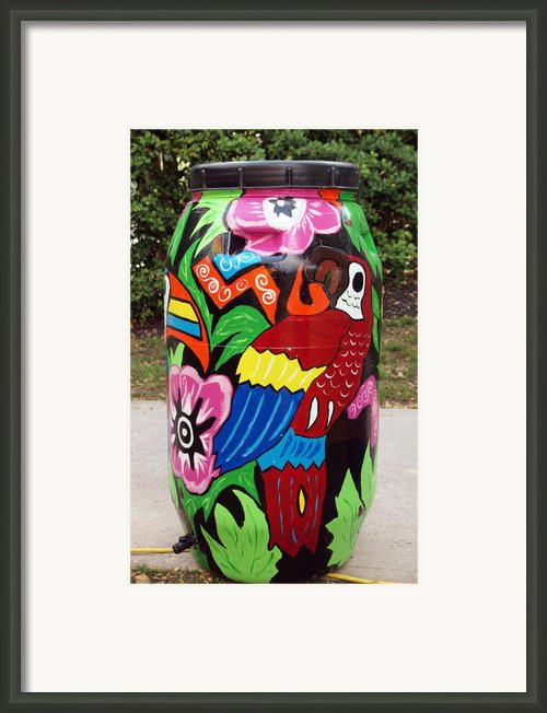 Rain Barrel 2 Framed Print By Luis Lugo