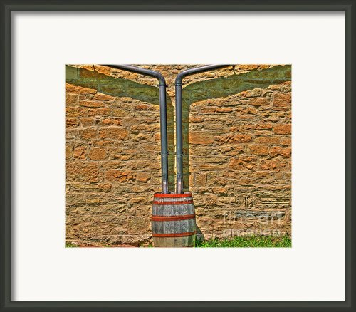 Rain Barrel Framed Print By Jimmy Ostgard