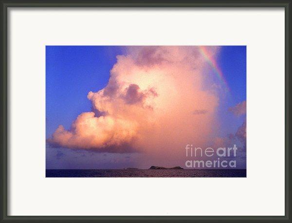 Rain Cloud And Rainbow Framed Print By Thomas R Fletcher