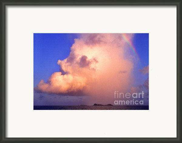 Rain Cloud And Rainbow Framed Print By Thomas R Fletcher