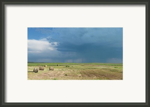 Rain On The Prairie Framed Print By Estephy Sabin Figueroa