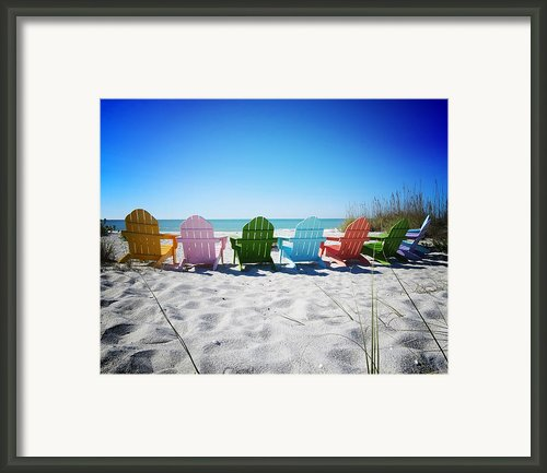 Rainbow Beach Vanilla Pop Framed Print By Chris Andruskiewicz