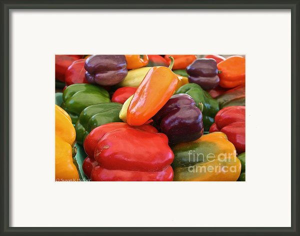 Rainbow Bells Framed Print By Susan Herber
