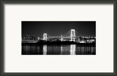 Rainbow Bridge At Night Framed Print By Xkhol