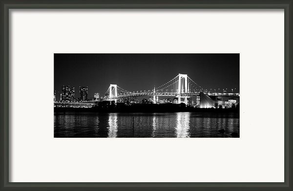 Rainbow Bridge At Night Framed Print By Xkhol