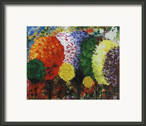 Rainbow Forest Framed Print By Shilpi Singh
