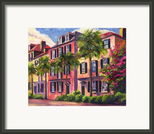 Rainbow Row Charleston Sc Framed Print By Jeff Pittman