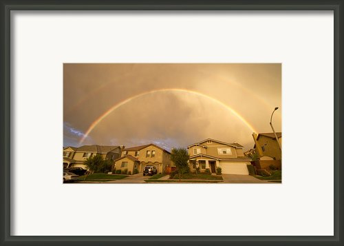 Rainbows Over Suburbia 1 Framed Print By Jessica Velasco