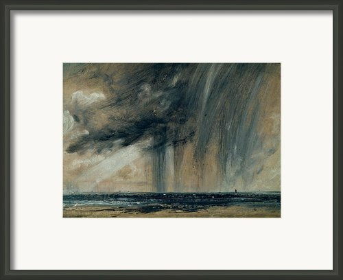 Rainstorm Over The Sea Framed Print By John Constable