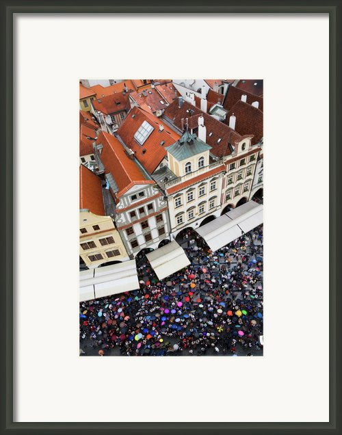 Rainy Day In Prague-2 Framed Print By Diane Macdonald