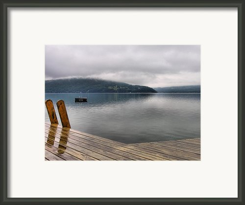 Rainy Day Keuka Framed Print By Steven Ainsworth