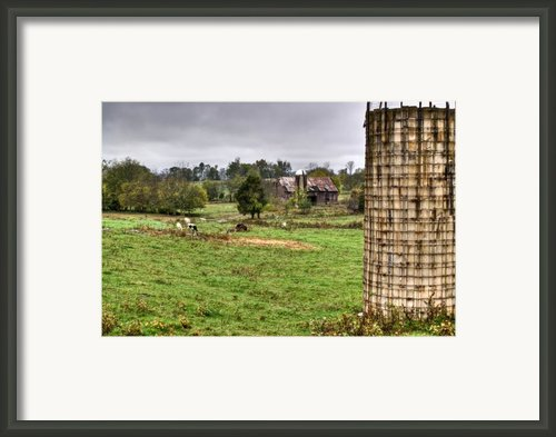 Rainy Day On The Farm Framed Print By Douglas Barnett